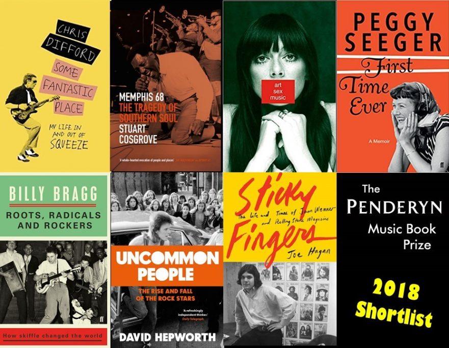 Penderyn Music Book Prize Shortlist 2018