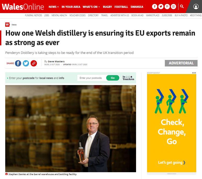 Penderyn Exports Wales Online